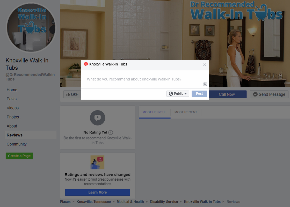 Knoxville Walk-in Tubs Reviews Facebook